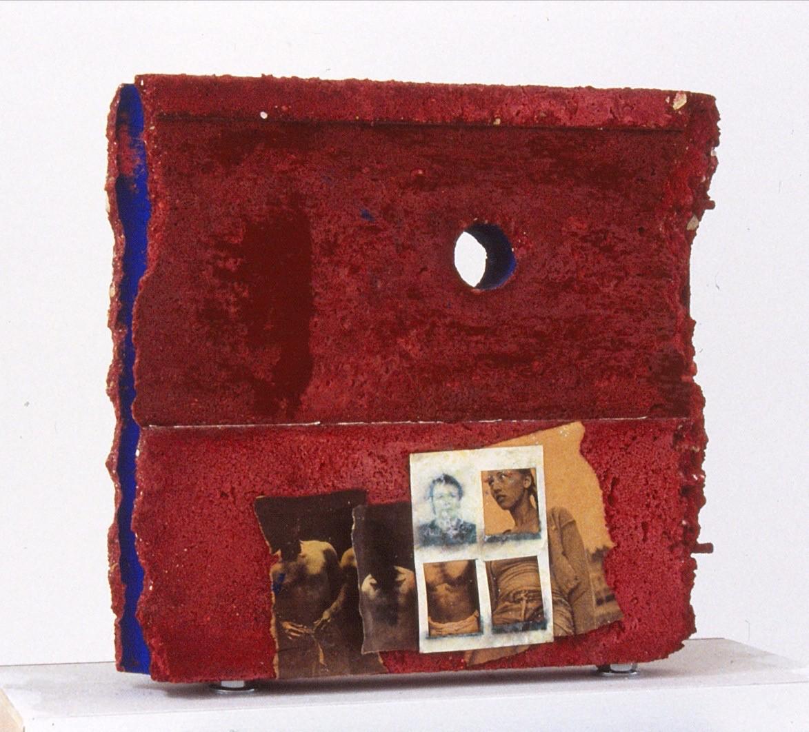 béton papier journal IDphotos huile de vidange pigments 1985 2000